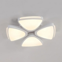 Contemporary Petal Flush Ceiling Light Acrylic LED Ceiling Fixture in White/Warm for Bedroom