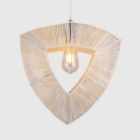 Hand Knitted Triangle Pendant Lighting with 47