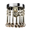 Clear Crystal Cylinder Ceiling Light 1 Light Contemporary Chandelier in Chrome