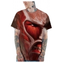 Attack on Titan Cool Comic 3D Print Short Sleeve Quick Drying T-Shirt