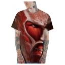 Cool Comic 3D Print Short Sleeve Quick Drying T-Shirt