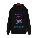 New Popular Luminous Long Sleeve Black Fitted Hoodie