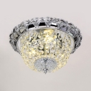 Clear Crystal Dome Ceiling Light Fixture Multi Lights Vintage Style Flush Mount Lighting for Living Room