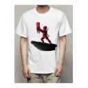 Spider-Man: Homecoming Cartoon Printed Short Sleeve White T-Shirt