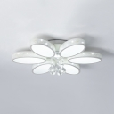 Acrylic Flower Ceiling Pendant 6/9/12 Lights Modern Flush Mount Lighting in White
