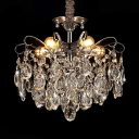 European Crystal Pendant Light 5/6/8 Lights Hanging Light Fixture in Gold for Dining Room