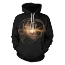 Game Of Thrones Astrolabe 3D Printed Long Sleeve Black Sport Casual Hoodie