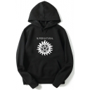 Fashion Logo Letter SUPERNATURAL Print Long Sleeve Unisex Casual Pullover Hoodie
