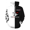 Trigger Happy Havoc 3D Comic Printed Black and White Hoodie