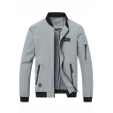 New Stylish Multi Zip Embellished Long Sleeve Stand-Collar Zip Up Fitted Jacket for Men