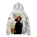 Popular American Rapper 3D Figure Printed REST IN PARADISE Long Sleeve Casual Unisex Pullover White Hoodie