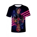Riverdale 3D Snake Floral Figure Printed Round Neck Short Sleeves Unisex Tee