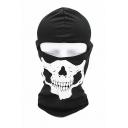 New Popular Skull Print Halloween Cosplay Scarf Neck Outdoor Black Face Mask