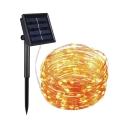2 Pack Rope Solar Fairy Lights 7ft 100 Lights LED Hanging String Lights in Multi Color/Warm White/White