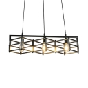 Industrial Rectangle Island Pendant Lights with 27.5