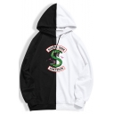 New Stylish SOUTH SIDE Snake Logo Colorblock Casual Loose Hoodie
