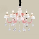 Kids Candle Chandelier with 12