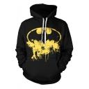 Batman Cool 3D Digital Printed Casual Long Sleeve Black Pullover Drawstring Hoodie