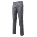 Men's Basic Simple Plain Formal Slim Fitted Straight-Leg Business Dress Pants