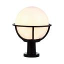 Pack of 1 Waterproof Post Light Fixture White Globe Shape LED Post Lighting for Garden