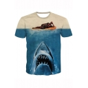 New Stylish Funny Deadpool Character Printed Basic Short Sleeve Casual T-Shirt
