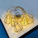 10/20 LED Hanging String Lights 5/10ft Always on Mode Gold/Rose Gold String Lights with Battery