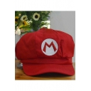 Super Mario Luigi Mario Bros Anime Cosplay Letter Embroidery Octagonal Cap