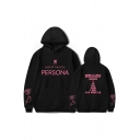 Popular Boy Band Logo Letter PERSONA Loose Casual Long Sleeve Pullover Hoodie