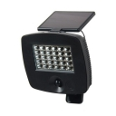 Angle Adjustable Solar Wall Light 30 LED Water-Resistant Motion Activated Security Light for Fence