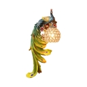 Peacock Sconce Light 1 Light Antique Wall Lamp in White/Gold/Light Gold and Blue/Blue/Multi Color