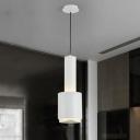 Iron Hand Grenade Pendant Light Modernism Single Light Drop Ceiling Lighting in White