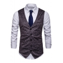 New Stylish Printed Single Breasted Buckle Back Casual Suit Vest for Men