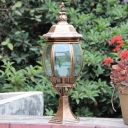 Water-Resistant Post Lighting Pack of 1 LED Post Lantern in Brass for Pathway