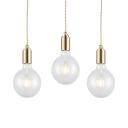 Modern Bulb Pendant Light Single Light Clear Glass Ceiling Hanging Light Fixture in Warm Brass