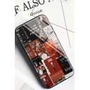 New Stylish Figure Letter Print Toughened Glass Mobile Phone Case for iPhone