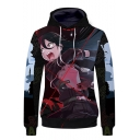 Sword Art Online Comic Figure Printed Unisex Pullover Loose Casual Drawstring Hoodie