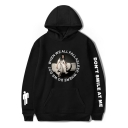 Stylish Letter DON'T SMILE AT ME Unisex Loose Casual Hoodie
