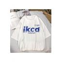 Hip Hop Cool Street Letter IKCD Summer Unisex Oversized T-Shirt