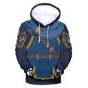 Popular Game Cosplay Costume Casual Blue Hoodie