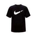 New Trendy Logo Pattern Round Neck Short Sleeve Casual T-Shirt