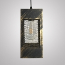 Metal Rectangle Overhead Lighting with 42