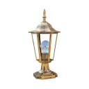 Pack of 1/2 Antique Post Lighting Brass Waterproof LED Post Lamp for Pathway Courtyard
