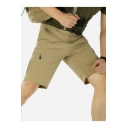Quick Dry Summer Fashion Plain Zip-Pockets Outdoors Casual Shorts for Men