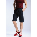 Men's New Trendy Solid Drawstring Waist Leisure Cotton Sport Sweat Shorts