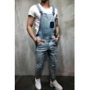 Hot Fashion Multi Pockets Slim Fit Overall Jeans for Men