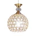 Globe Pendant Light for Bedroom, 1/3 Lights Modern Clear Crystal Pendant Lighting with 31.5