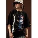 Summer Street Fashion Cool Letter EMOTIONAL Print Round Neck Oversized Graphic Tee
