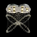 Dining Room Flush Mount Clear Crystal 8 Lights Contemporary Chandelier in Chrome