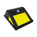 48/60/96 LED Motion Detector Solar Lights Waterproof Wireless Stainless Steel Wall Light in Black