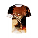 New Trendy Comic Figure 3D Printed Round Neck Short Sleeve Unisex T-Shirt